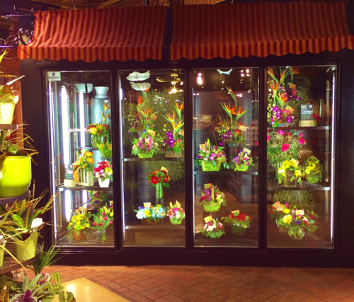 Custom Made Combo Display And Floral Storage Refrigeration